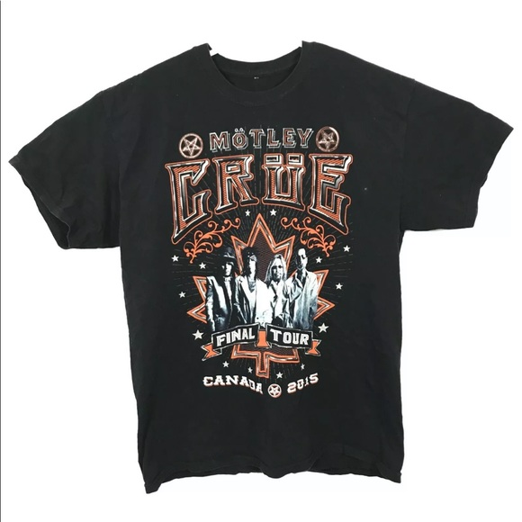 MOTLEY CRUE Final Tour Canada 2015 T Shirt
